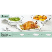 7 piece Porcelain Bakeware Set A