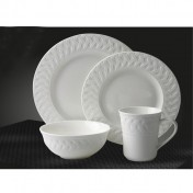 Dinner Set 16pcs: Round with Pattern