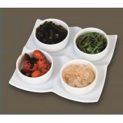 Round Serving Bowl Dish with Tray: 5pcs