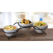 Serving Bowl with Stand: 3pcs